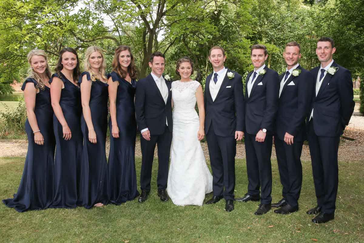 wedding party photo at
